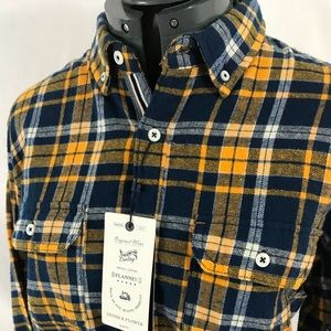 ba7ae6babac Denim and Flower Shirts - Men s Denim and Flower Flannel Button Down Shirt